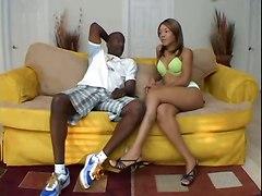 Mulatto Chick Loves Ebony Dick