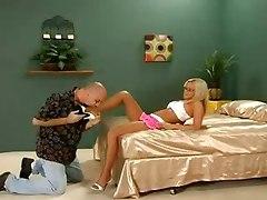Beautiful Blonde Bree Olson Fucked In Tan Pantyhose