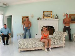 Pigtails Teen Gets Anal & Dp