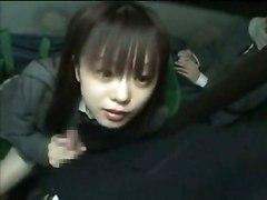 Schoolgirl Gives Handjob In Train