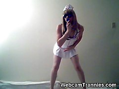 Hot Tranny Nurse On Cam