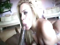 Fat Ass Blondie Drilled By Big Black Snake