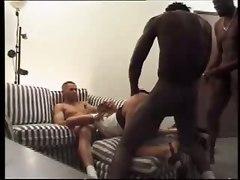 Milf Gangbanged By Three Black Cocks