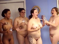 A Bunch Of Crazy Amateur Girls Strip And Oil Themselves