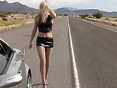 Driving Fast... 150mph, And Showing Off Her Body