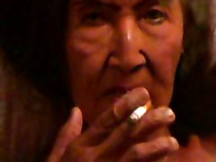 Old Whore Masturbates And Smokes