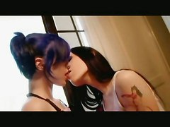Goth Lesbos With Wet Holes