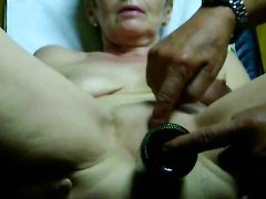 Masturbating Mature Wife With Bottle. She Had Orgasm