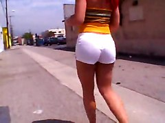 Redhead Tranny In White Stockings Gets Anal