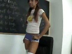 Horny Schoolgirl Fucks Teacher