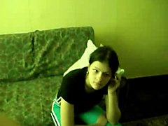 Two Young Russian Teens On Camera