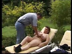 Bbw Mature Enormous Tits Has Hard Sex With Her Husband In Garden