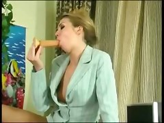 Beautiful Blond Anal Office