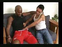 Interracial -- Black Stud Fucks White Twink
