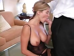 Busty Milf In Stockings Is Hot